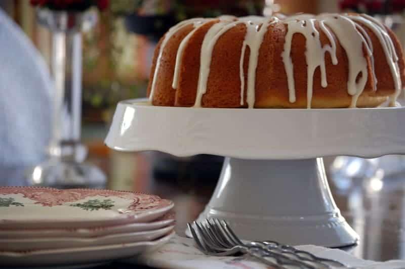 gluten free eggnog cake