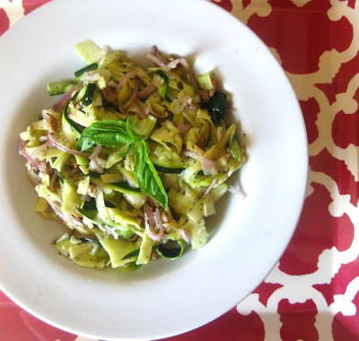 zucchini pasta vegan gluten free