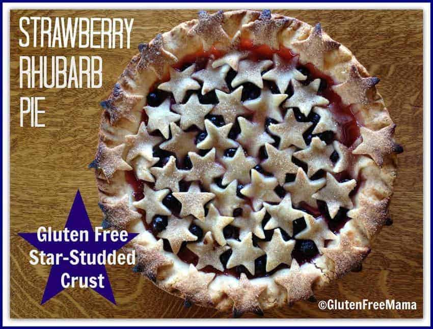 Gluten Free Strawberry Rhubarb Pie with Blueberries | Rachel, Gluten ...